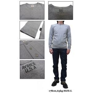AVIREX アビレックス ヘンリーネック 長袖Tシャツ 6153482|jerrys|03