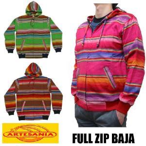 ARTESANIA FULL ZIP BAJA 全3色 メキシカン ジップパーカー|jerrys