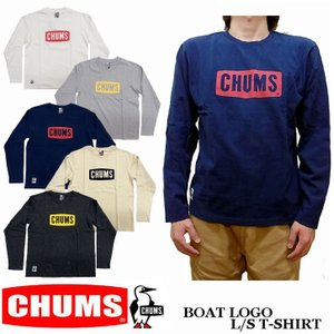 CHUMS チャムス ボートロゴ 長袖 Tシャツ CH01-1284|jerrys