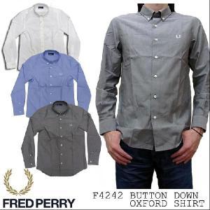フレッドペリー FRED PERRY ボタンダウン オックスフォード 長袖シャツ F4242|jerrys