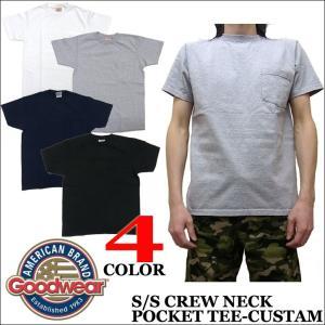 GOODWEAR グッドウェア ポケット付き クルーネック Tシャツ|jerrys
