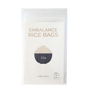 エンバランス 新鮮袋 米5kg ポリ袋 サイズ 8枚入 保存 ポリエチレン袋|jes-mineral-honpo