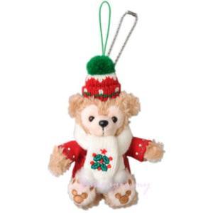 ダッフィー お座り ストラップ 2013 2014 クリスマス 限定 Duffy ぬいぐるみストラップ 東京ディズニーシー限定 ☆ とってもかわいいお顔厳