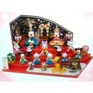 ディズニー 2018 ひな人形 (大) 雛人形 ひな祭り お雛さま ミッキー&ミニー、仲間たち 桃の節句 インテリアにも♪ 東京ディズニー