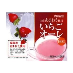 ミルク風味の粉末飲料 あまおう果汁使用いちごオーレ500g