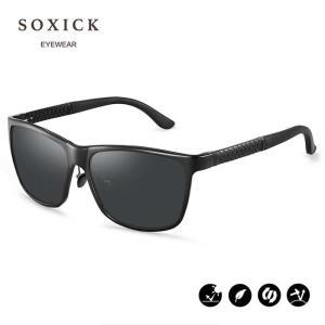 【ポイント10倍】SOXICK サングラス  偏光レンズ ミラー レディース メンズ SUNGLAS...