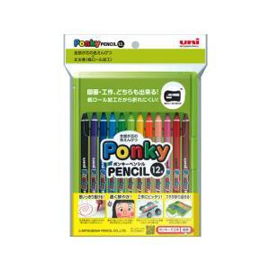 三菱鉛筆/ポンキーペンシル 12色セット /K800PK12CLT|jetprice