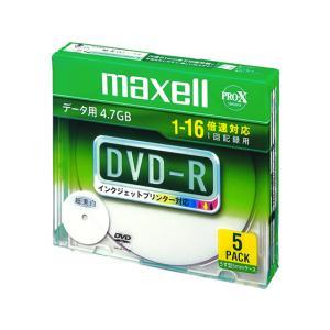 マクセル/データ用DVD-R(1~16倍速) 5枚 ホワイト/DR47WPD.S1P5SA|jetprice