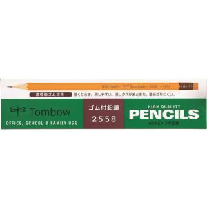 トンボ鉛筆/消しゴム付き鉛筆 HB 12本/2558-HB jetprice