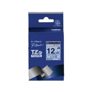 ブラザー/ラベルプリンター用布テープ12mm ブルー/青文字/TZe-FA53 jetprice