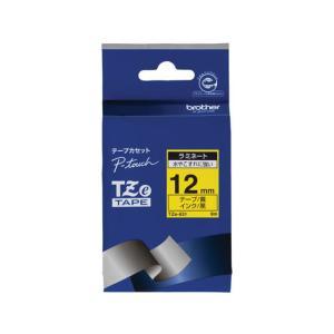 ブラザー/ラベルプリンター用ラミネートテープ12mm 黄/黒文字/TZe-631|jetprice