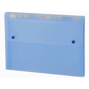 セキセイ/ドキュメントファイル A4 13ポケット ブルー|jetprice