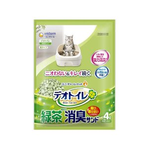 ユニチャーム/抗菌デオトイレ飛び散らない緑茶成分入消臭サンド 4L|jetprice
