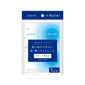 大王製紙/エリエール +Water ポケットティシュー 14組4個|jetprice
