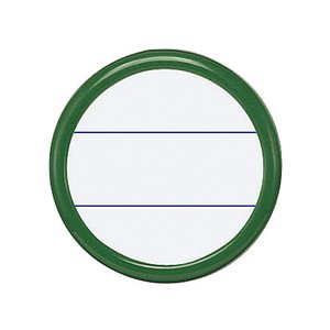 コクヨ/丸型名札安全ピン・クリップ両用 緑/ナフ-15G