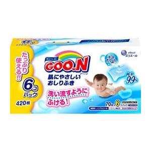 大王製紙/グ〜ン肌にやさしいおしりふき詰替用70枚×6P...