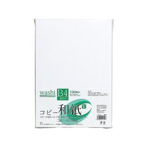 マルアイ/コピー和紙 B4 ホワイト 100枚/カミ-4BW