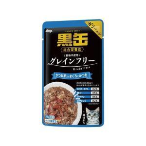アイシア/黒缶パウチ かつお節入りまぐろとかつお 70g