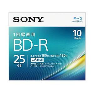 ソニー/1回録画用ブルーレイディスク25GB6倍速10枚/10BNR1VJPS6|jetprice