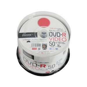 HIDISC/TYシリーズ録画用DVD-R 120分 16倍速 50枚|jetprice