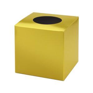 【仕様】紙製の組み立て式抽選箱です。幸運を呼ぶ金! ●色:金●サイズ:幅165×奥行165×高さ16...