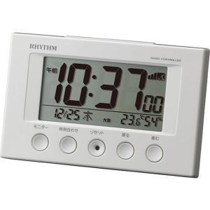 リズム時計/電波時計 フィットウェーブスマート 白/8RZ166SR03|jetprice