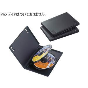 エレコム/DVDトールケース 3枚収納 3個セット ブラック/CCD-DVD07BK