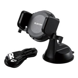 エレコム/Qi規格対応ワイヤレス充電器 車載付 ブラック/W-QC01BK|jetprice