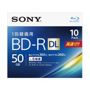 ソニー/1回録画ブルーレイディスク 6倍速 50GB 10枚/10BNR2VJPS6|jetprice