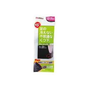 桐灰化学/足の冷えないくつ下 クルーソックス ブラック 23-25cm|jetprice