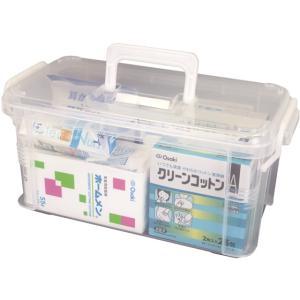 【仕様】ガーゼやカット綿、絆創膏、消毒液などの応急処置に必要な衛生用品一式が揃う救急セットです。持ち...