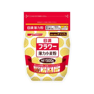日清フーズ/日清フラワー(薄力小麦粉) チャック付 500g|jetprice