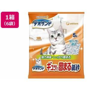 ユニ・チャームペットケア/デオサンド ギュッと固まる紙砂 5L×6袋|jetprice