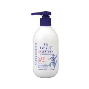 熊野油脂/麗白 ハトムギ UV ミルキージェル 250ml|jetprice