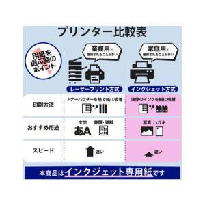 エレコム/名刺用紙 マイクロミシン 厚口 120枚 ホワイト/MT-KMN2WN|jetprice|05
