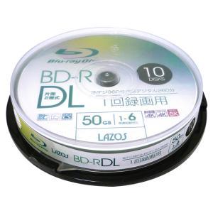 Lazos/BD-R DL 50GB 10枚 大容量記録用/L-BDL10P|jetprice