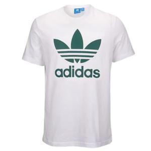 アディダス オリジナルス メンズ トレフォイル Tシャツ ホワイト グリーンadidas Orignals Men's Trefoil T-shirt White/Green jetrag