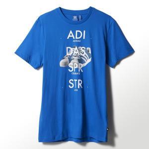 アディダス オリジナルス メンズ スーパースター シュー グラフィック 半袖Tシャツ adidas originals Men's Superstar Shoe Graphic Tee(Bluebird) jetrag