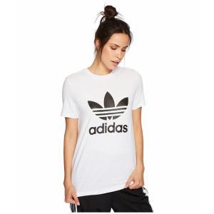 (取寄)アディダス オリジナルス レディース トレフォイルTシャツ adidas originals Women Trefoil Tee White/Black 2|jetrag