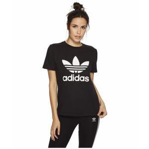 (取寄)アディダス オリジナルス レディース トレフォイルTシャツ adidas originals Women Trefoil Tee Black/White 3|jetrag