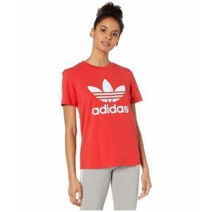 (取寄)アディダス オリジナルス レディース トレフォイルTシャツ adidas originals Women Trefoil Tee Lush Red/White|jetrag