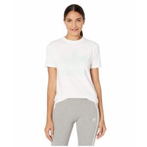 (取寄)アディダス オリジナルス レディース トレフォイルTシャツ adidas originals Women Trefoil Tee White/Glow Purple|jetrag