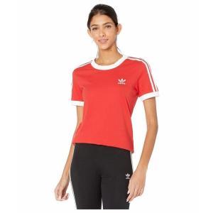 (取寄)アディダス オリジナルス レディース アディダス オリジナル 3 Tシャツ adidas originals Women adidas Originals 3 Tee Lush Red/White|jetrag