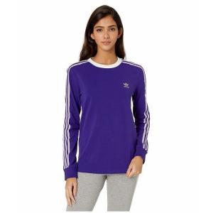 (取寄)アディダス オリジナルス レディース 3ーストライプ ロングスリーブ Tシャツ adidas originals Women 3-Stripes Long Sleeve Tee Collegiate Purple|jetrag