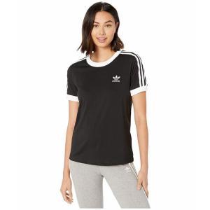 (取寄)アディダス オリジナルス レディース 3ーストライプ Tシャツ adidas originals Women 3-Stripes Tee Black|jetrag