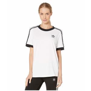 (取寄)アディダス オリジナルス レディース 3ーストライプ Tシャツ adidas originals Women 3-Stripes Tee White/Sun|jetrag