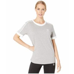 (取寄)アディダス オリジナルス レディース 3ーストライプ Tシャツ adidas originals Women 3-Stripes Tee Medium Grey Heather|jetrag