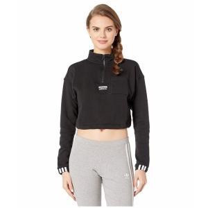 (取寄)アディダス オリジナルス レディース オリジナル 1/2 ジップ プルオーバー adidas originals Women Originals 1/2 Zip Pullover Black|jetrag