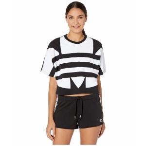 (取寄)アディダス オリジナルス レディース ラージ ロゴ Tシャツ adidas originals Women Large Logo Tee Black/White|jetrag