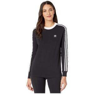(取寄)アディダス オリジナルス レディース アディカラー クラシックス 3 Tシャツ adidas originals Women adiColor Classics 3 Tee Black/White|jetrag